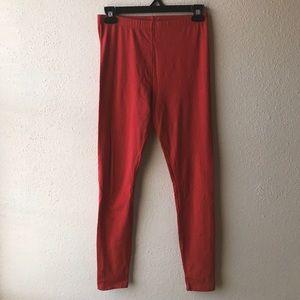 Medium Forever 21 Red Leggings